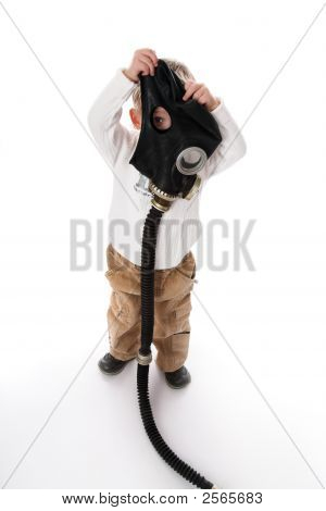 The Kid And A Gas Mask