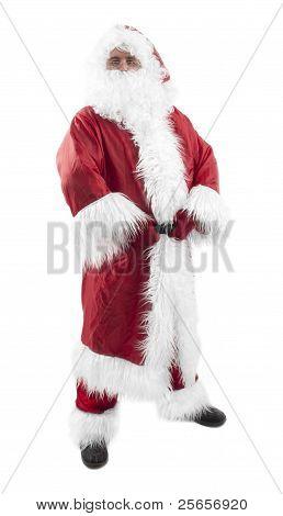 Santa Claus On White Background Ho Ho Ho