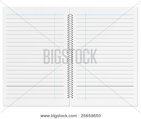Sheet of paper notebook.