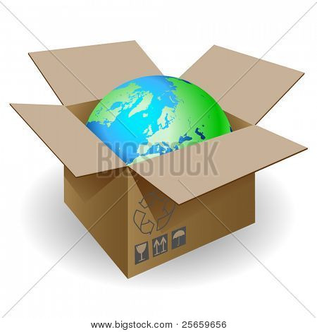 Globe and box.