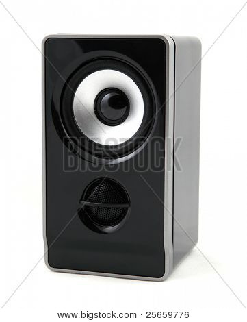 Great loud speaker isolated on white.