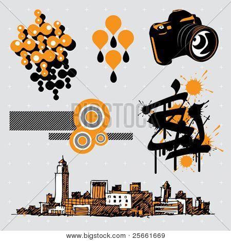 Urban series: editable design elements (9)