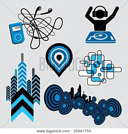 Urban series: editable design elements (12)