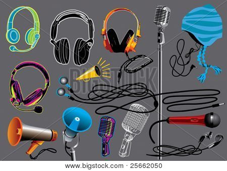 Music set 5 (visit our portfolio for more design elements and music vectors)
