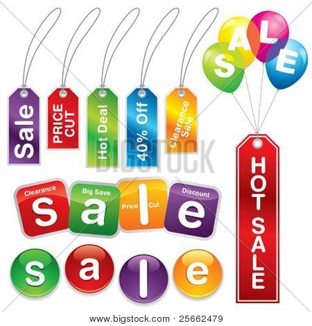 Sale stickers and labels #5