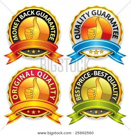 Set of best price and quality guaranteed seals. More vectors in my portfolio.