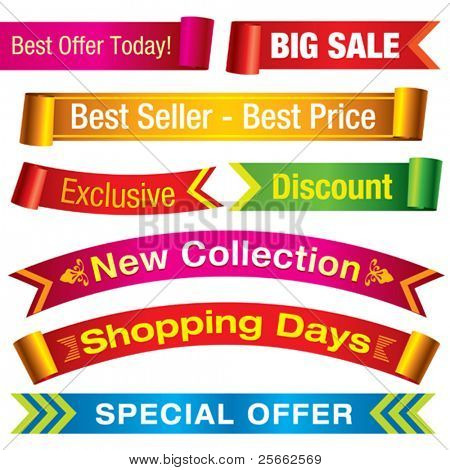 Discount banners. Visit my portfolio for similar images.