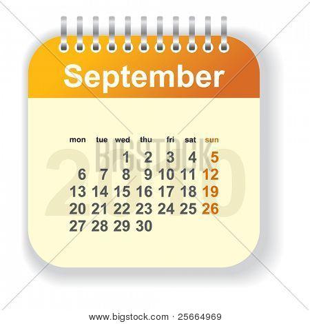 calendar - septenber (look for other month in my portfolio)