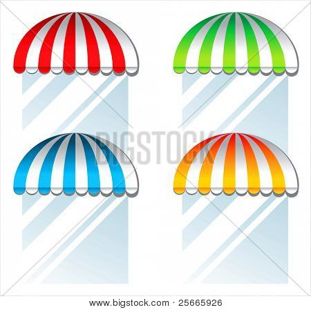 colorful awnings