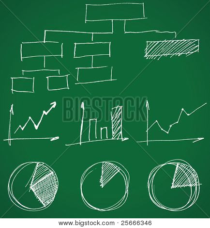 hand drawn business graphs