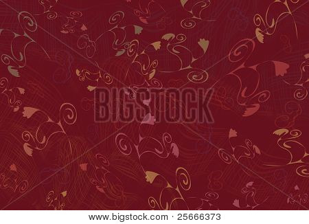 Abstract Background With Flowers And Texture Fabrics
