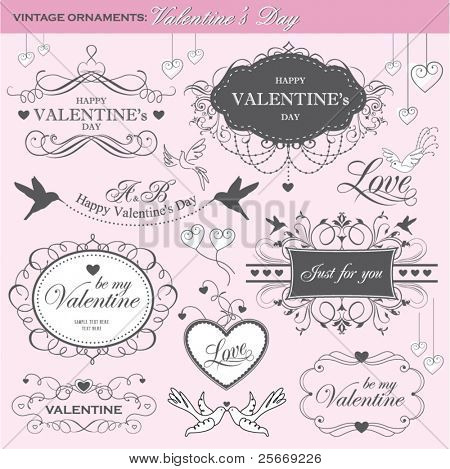 elementos de design dia dos Namorados