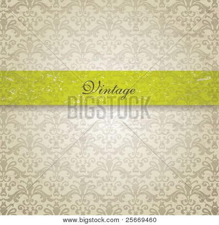vector vintage seamless background