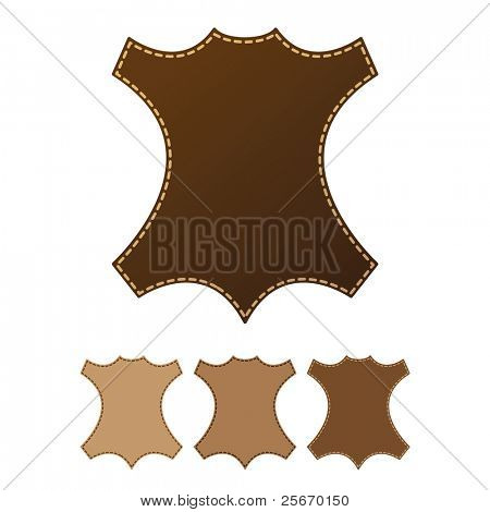sign of leather on a white background