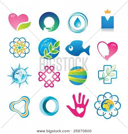 Abstract symbols for your design.