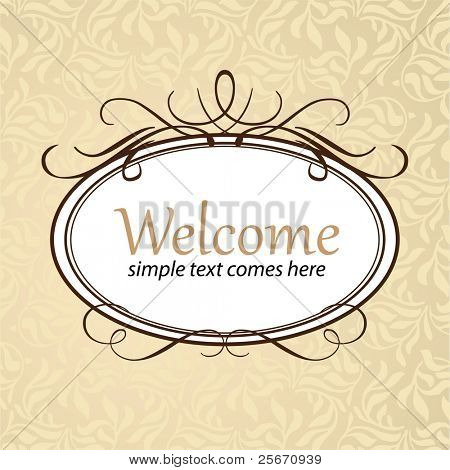 Frame template. Oriental style. Background - seamless pattern. Vector illustration.