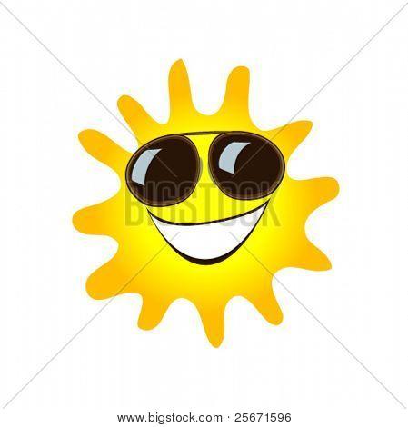 símbolo del sol feliz