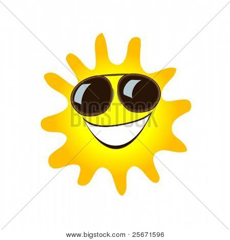 happy sun symbol
