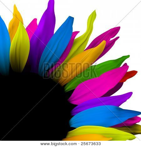 Flower decoration element, vector poster design
