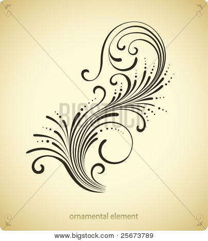 swirl ornament design
