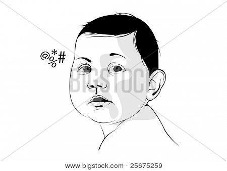 vector of baby graphic