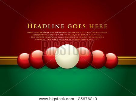 vector of pool and snooker background