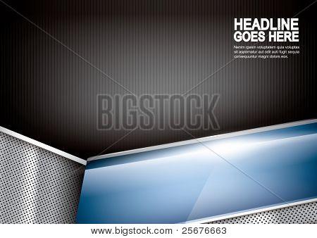 vector of abstract metallic background