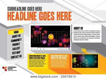 vector of web design background and layout