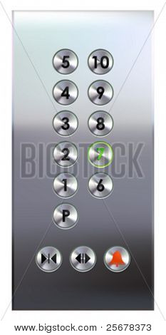 Elevator buttons panel (#1 of 4) â?¢ Find more elevator panels  in my portfolio â?¢