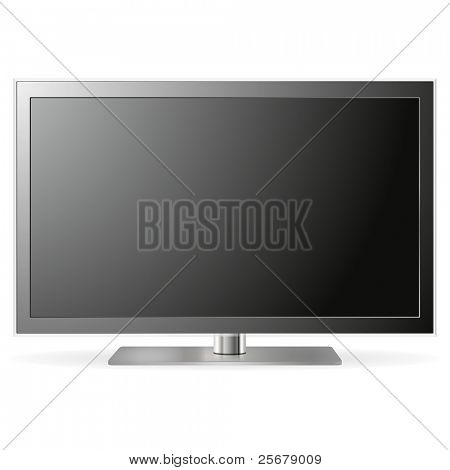 LCD TV isolated on white background (Clipping path included)