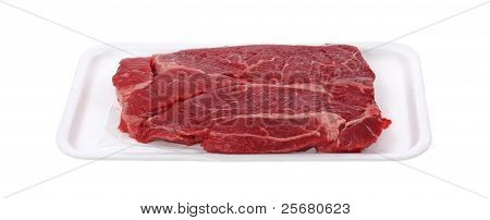 Chuck Steak On Tray