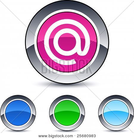 At glossy round web buttons.