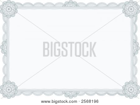 Diploma Or Certificate / Guilloche Border / A4 / Vector
