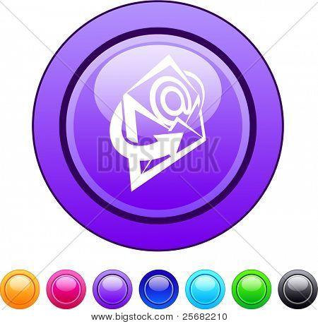 E-mail glossy circle web buttons.