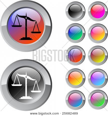 Balance multicolor glossy round web buttons.