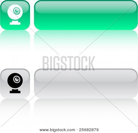 Webcam glossy square web buttons.