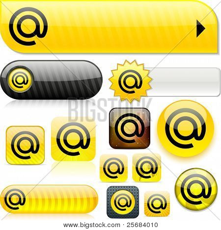At yellow shiny set of buttons.