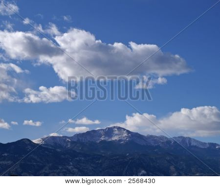 Pikes Peak With Clouds Formations