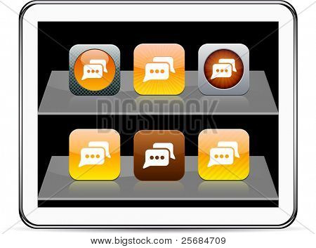 Chat Set of apps icons. Vector illustration doesn't contain transparency and other effects. EPS8 Only.