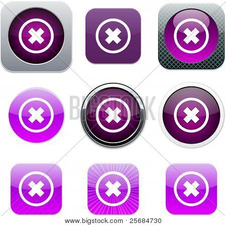 Conjunto de iconos de aplicaciones. Ilustración del vector.