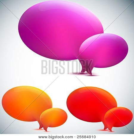 Speech bubble. Set