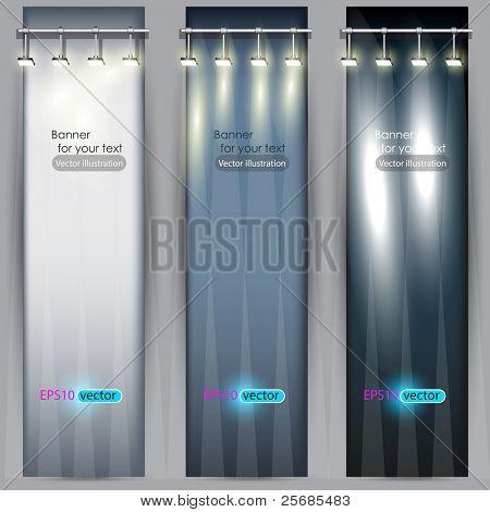 Cartaz vazio para a publicidade de produto com iluminação