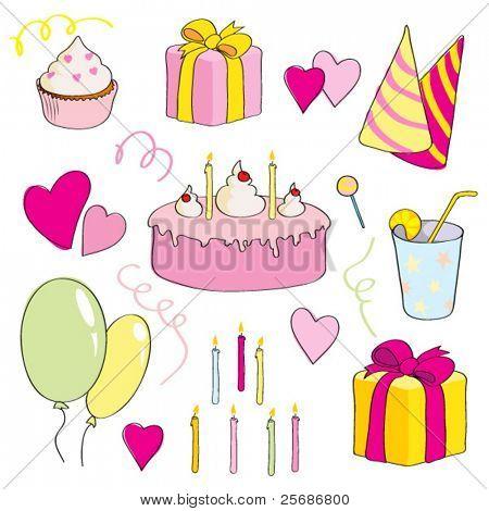 Bright birthday set