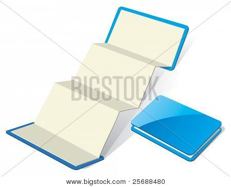 Blank Z-Card template. Vector Illustration