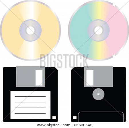 Vector CD and floppy disk