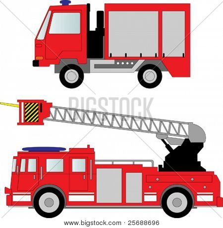 Fire truck vector illustration