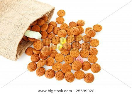 Bag With Typical Dutch Sweets: Pepernoten (ginger Nuts)