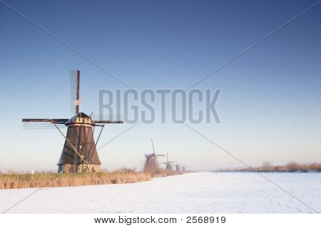 Windmills In Winter