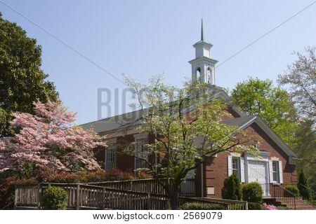 Church In Springtime