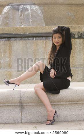 Sitting Beautiful Woman